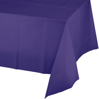 Creative Converting Purple Plastic Tablecover