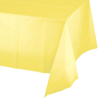 Creative Converting Light Yellow Plastic Tablecover