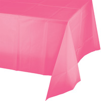 Creative Converting Candy Pink Plastic Tablecover
