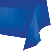 Creative Converting Cobalt Blue Plastic Tablecover