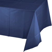 Creative Converting Navy Blue Plastic Tablecover