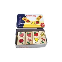 Wooden Domino Game - Fruits