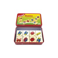 Wooden Domino Game - Insects
