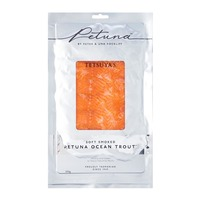 Petuna Soft Smoked Ocean Trout Sliced Frozen - By Culina