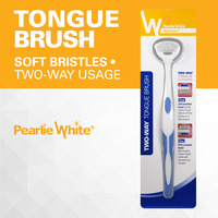 Pearlie White Two-Way Tongue Brush