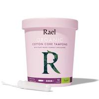 Rael Organic Cotton Tampons Non-Applicator - Super