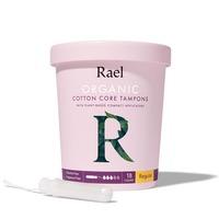 Rael Organic Cotton Tampons Non-Applicator - Regular
