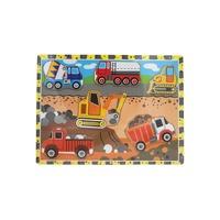 VIP Wooden Puzzle Board - Construction Trucks