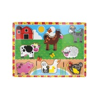 VIP Wooden Puzzle Board - Farm Animals