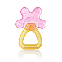 Brush-Baby Cool & Calm Teether - Pink/Orange