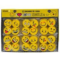 MTRADE Mini Smile Face Erasers