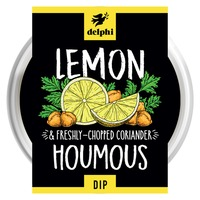 Delphi Lemon and Coriander Hummus Dip Gluten and Dairy Free Vegan