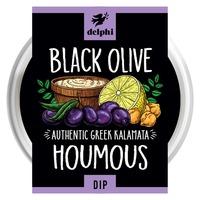 Delphi Fresh Black Olive Hummus Dip Gluten and Dairy Free Vegan