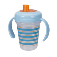 The First Years Stackable 7oz Soft Spout Trainer Cup-Blue Pattern