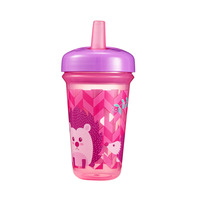 The First Years Stackable 9oz Soft Straw Cup - Hedgehog