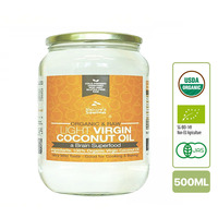 Nature's Superfoods Organic Light Virgin Coconut Oil (glass jar)