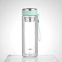 Haers Glass Double Wall Water Bottle Blue