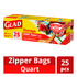 Glad Storage Zipper Bags - Quart