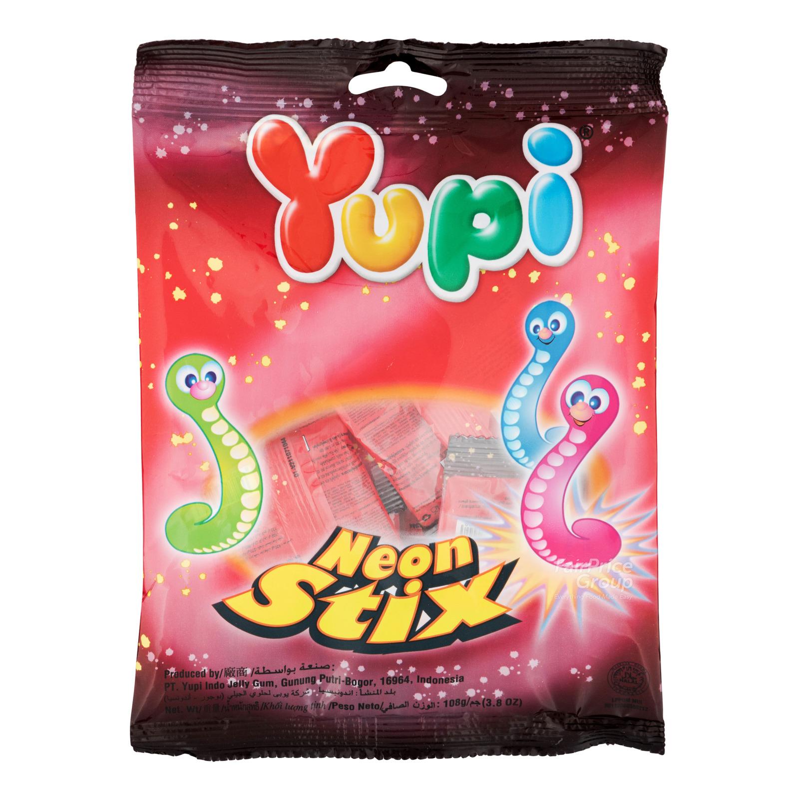 Yupi Gummy Candies - Neon Stix