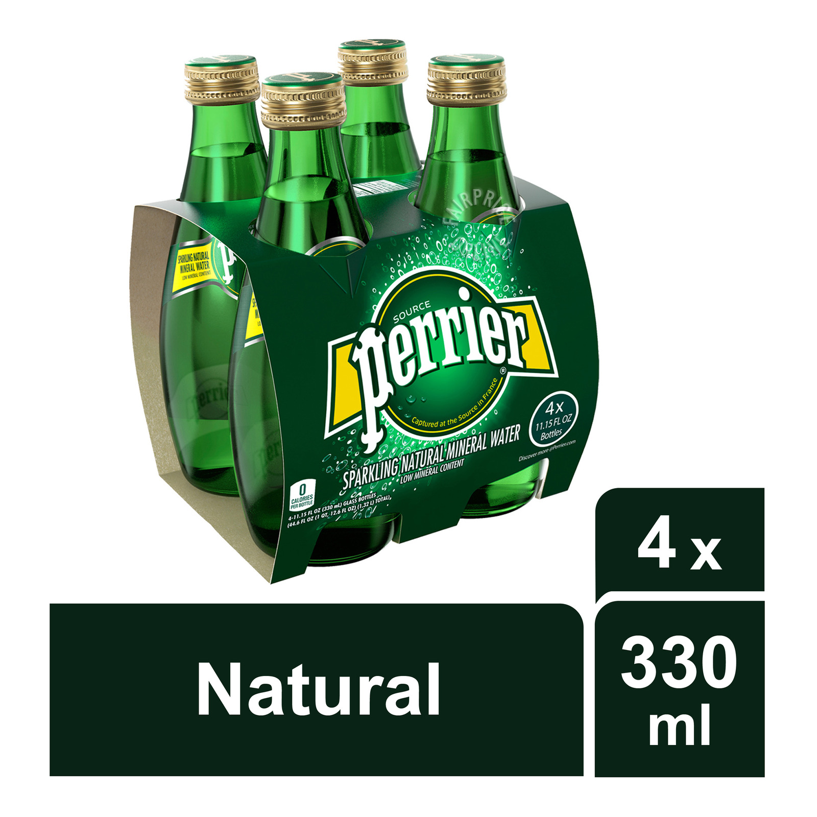 Perrier Sparkling Mineral Bottle Water - Natural