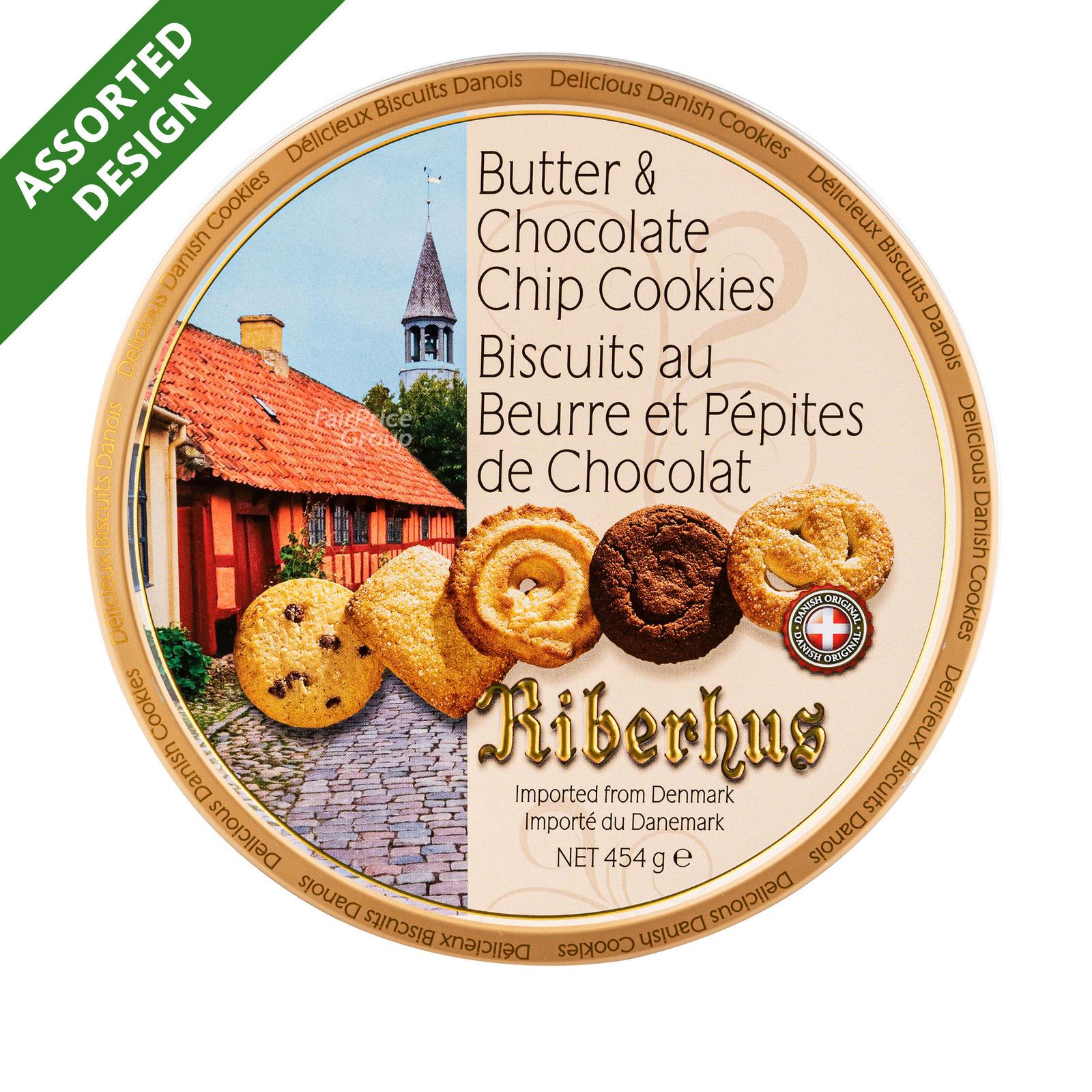 Riberhus Tin Cookies - Butter & Chocolate Chip
