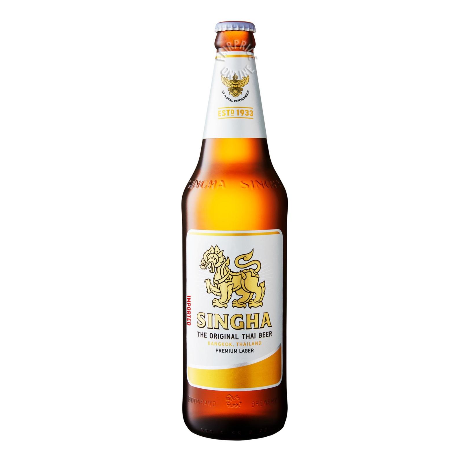 SINGHA Beer Pint Bottle 630ml