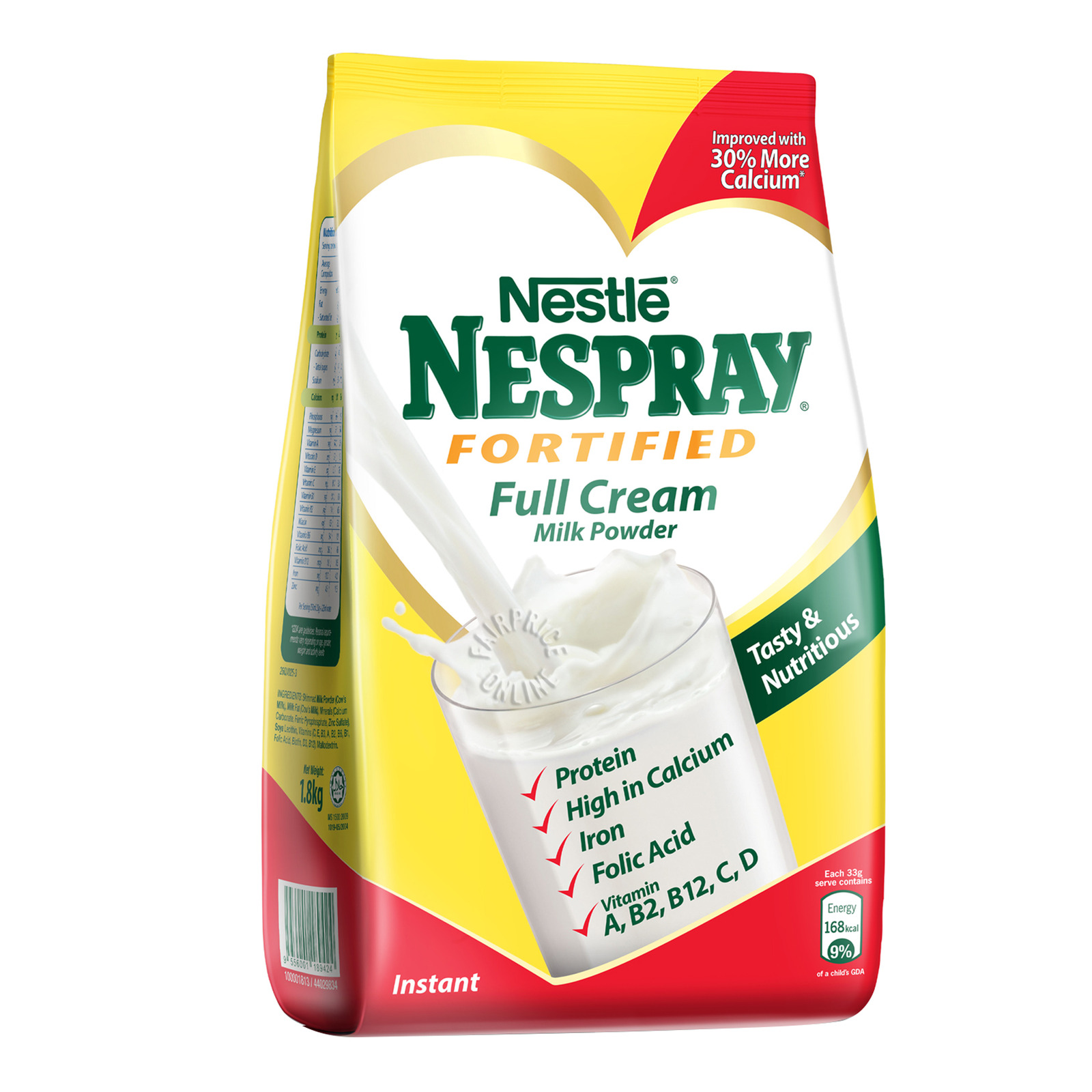 NESPRAY Nespray Fortified Full Cream Milk Powder 1.8kg