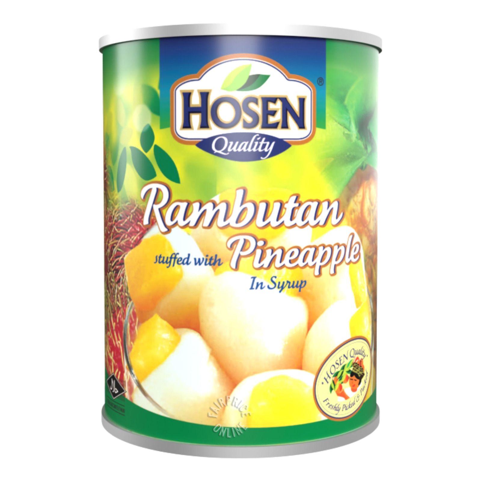 Hosen Fruits in Syrup - Rambutan Stuffed with Pineapple