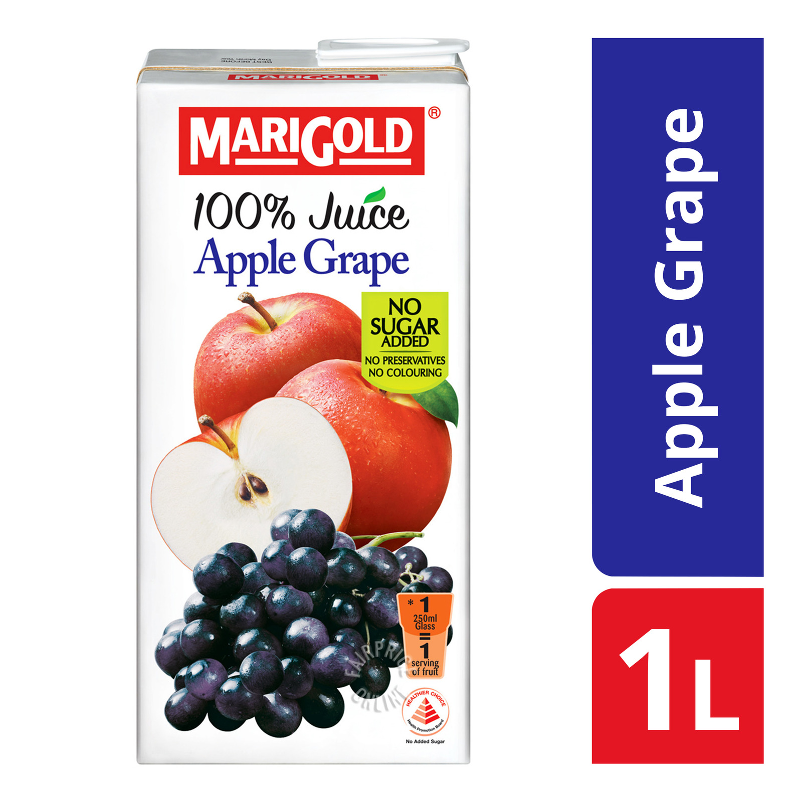 Marigold 100% Packet Juice - Apple Grape
