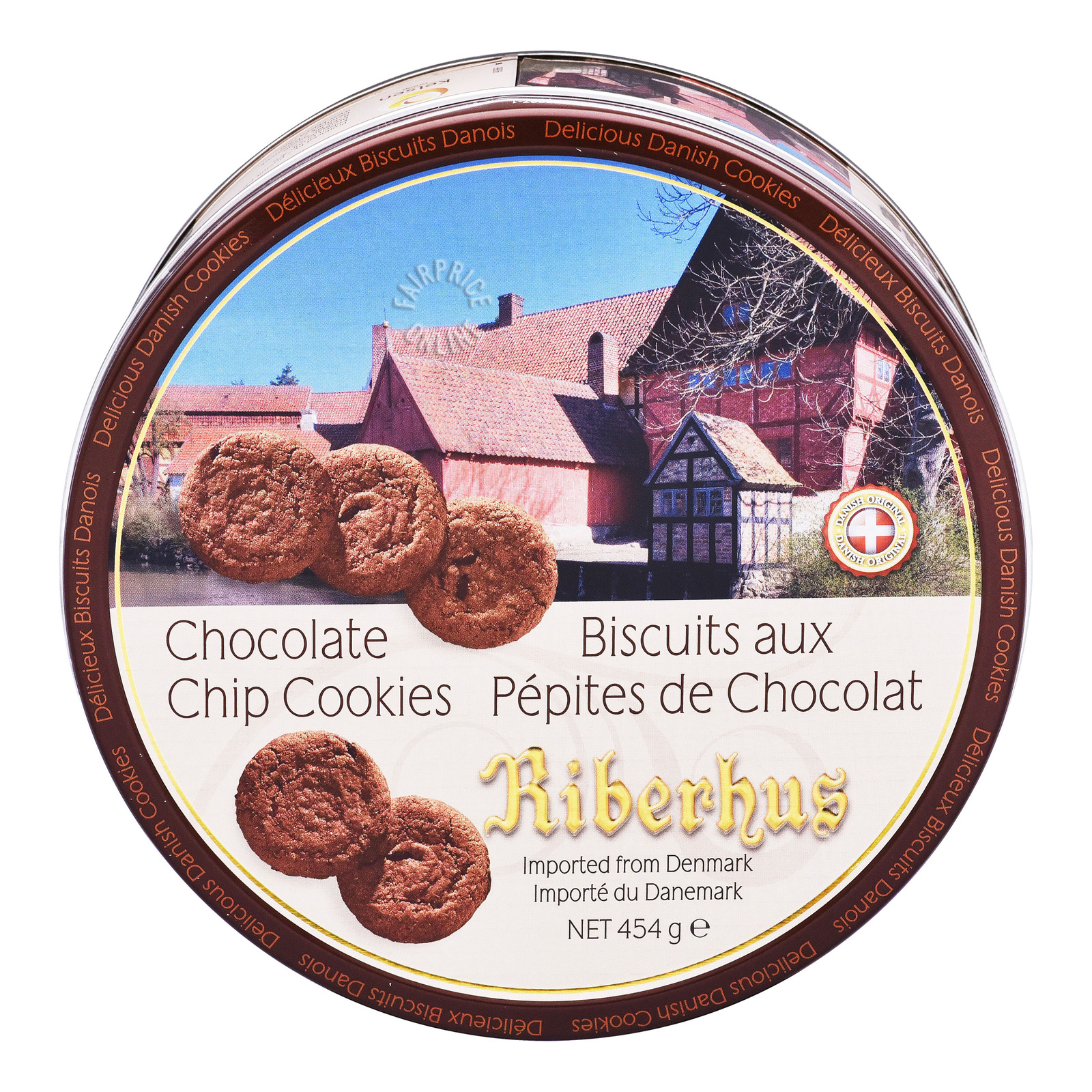 Riberhus Tin Cookies - Chocolate Chip
