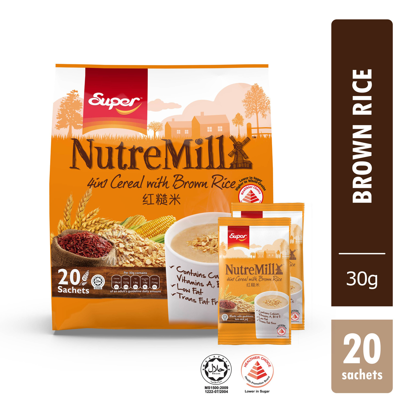 Super NutreMill 4 in 1 Instant Cereal with Brown Rice