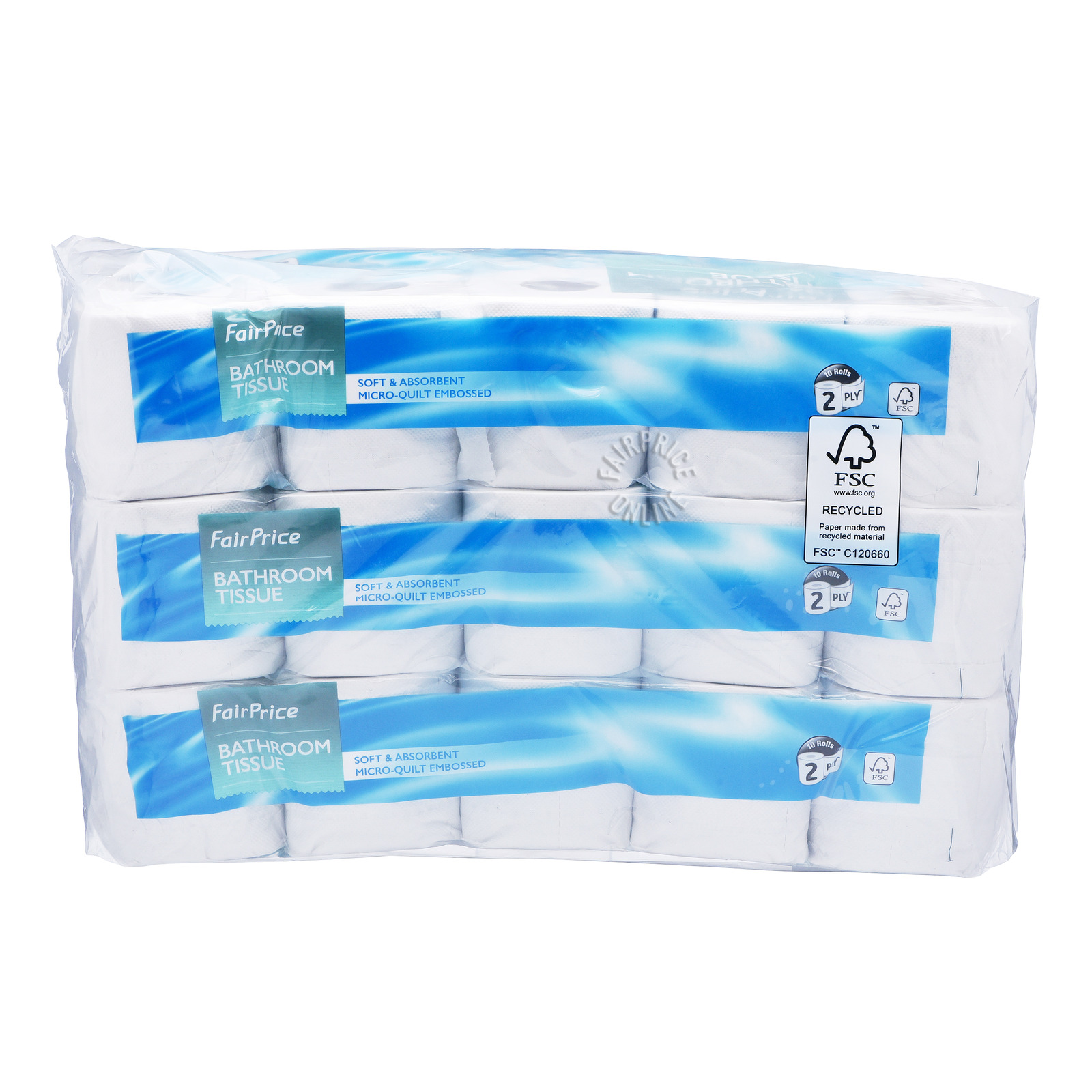 FairPrice Bathroom Tissue Rolls (2ply)