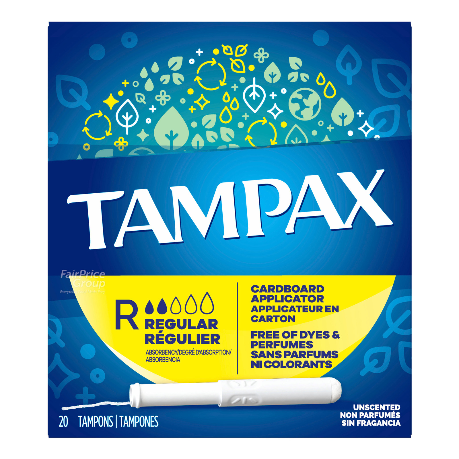 Tampax Anti Slip Grip Tampons - Regular