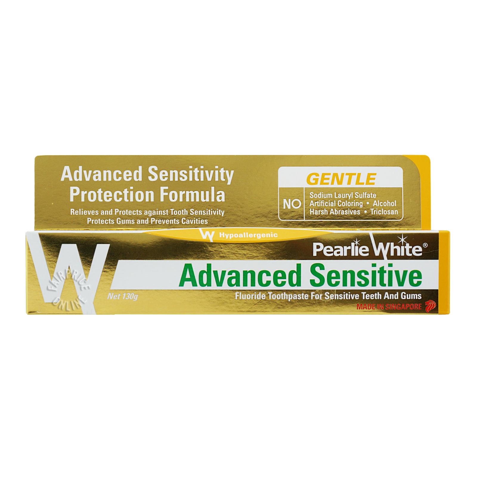 Pearlie White Fluoride Toothpaste - Advanced Sensitive