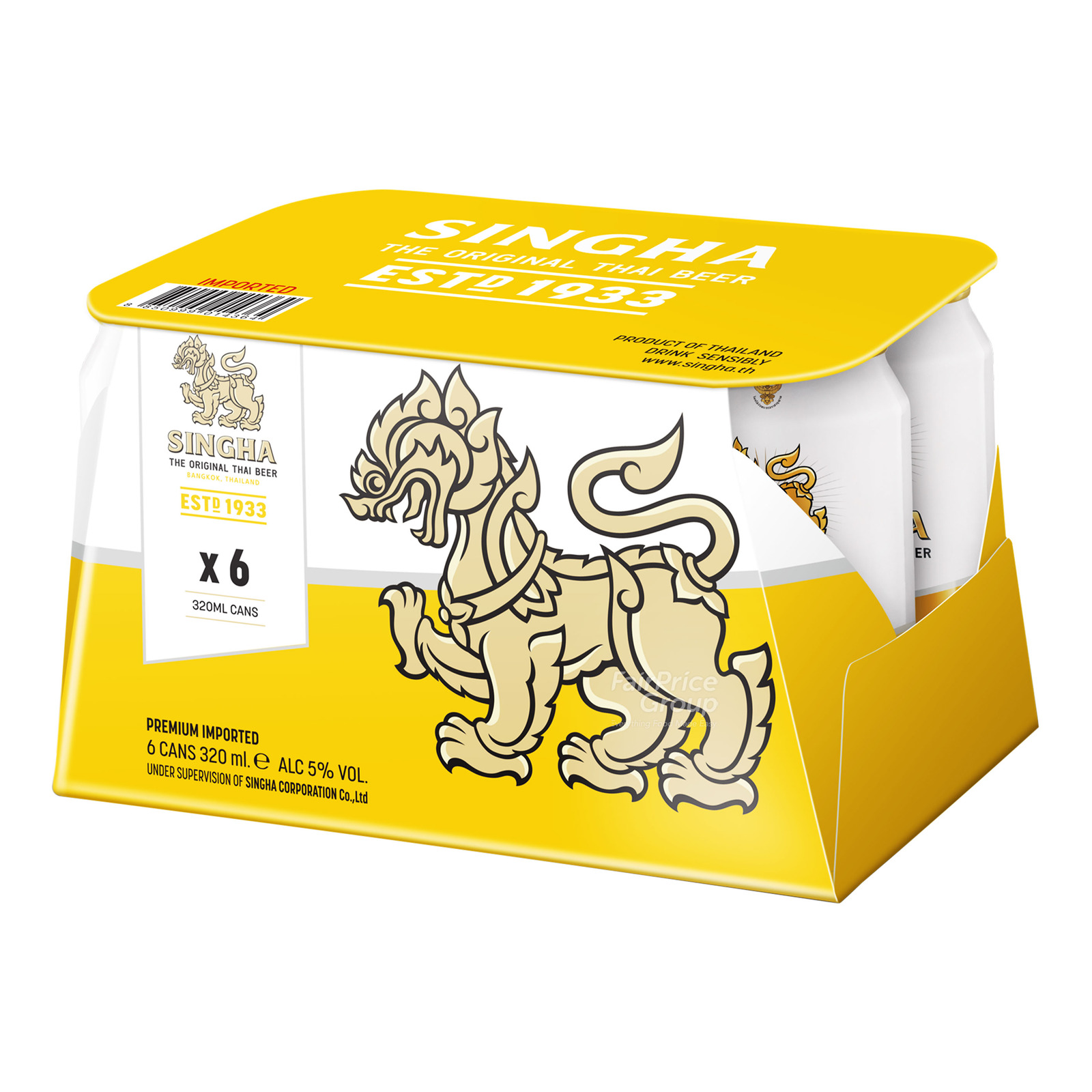 SINGHA Beer Can 6sX330ml