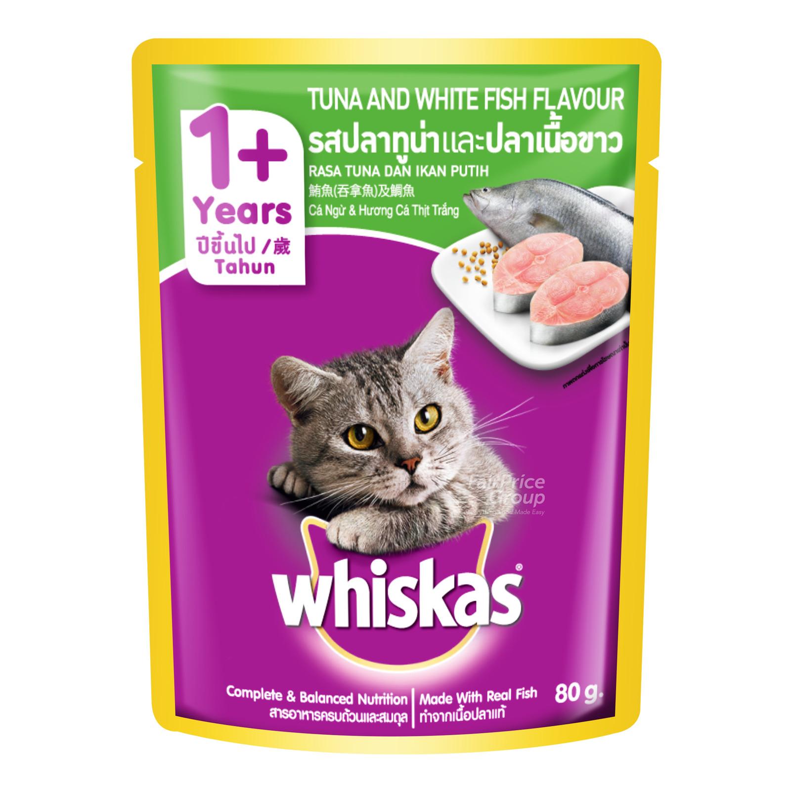 Whiskas Pouch Cat Food - Tuna White Fish