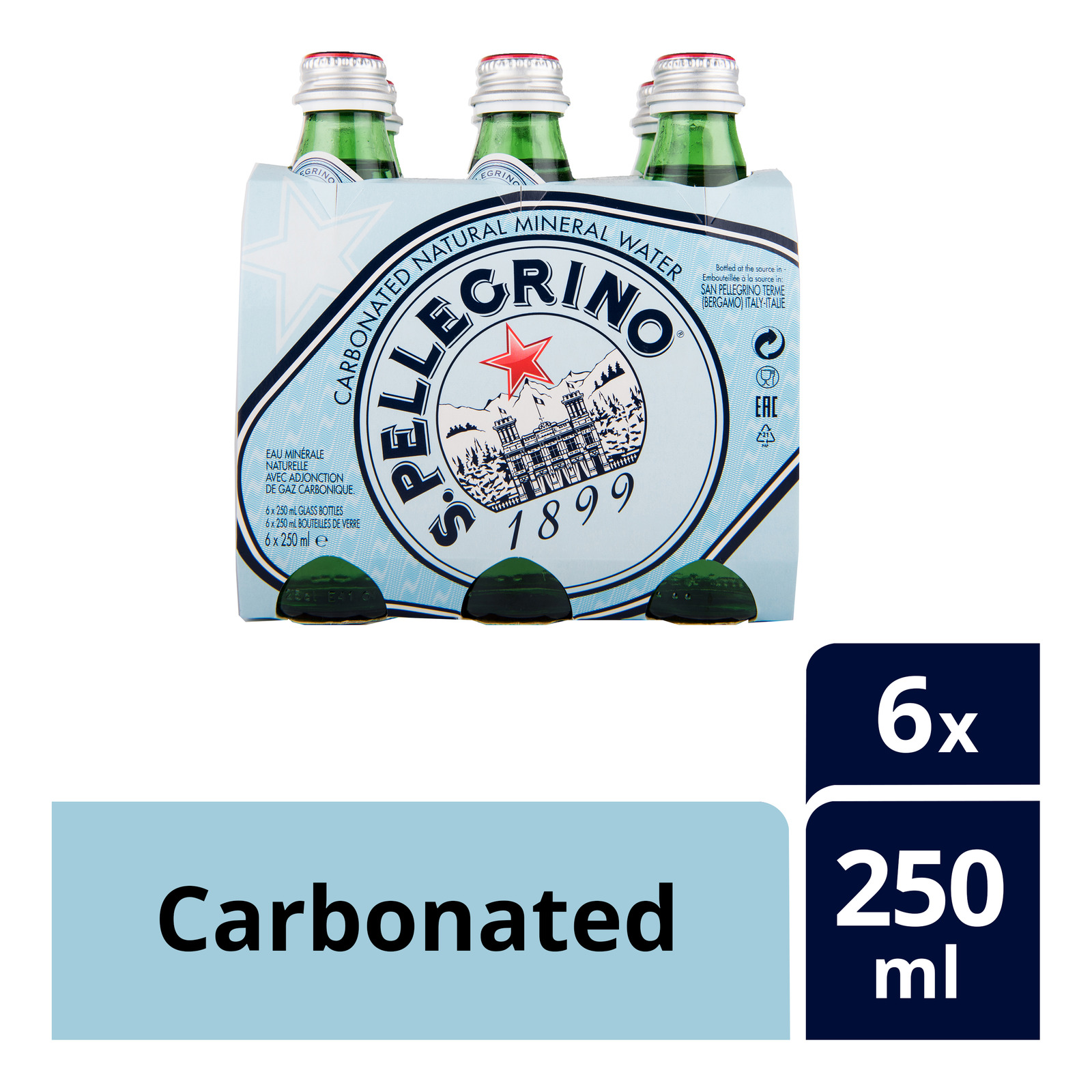 San Pellegrino Natural Mineral Bottle Water - Carbonated