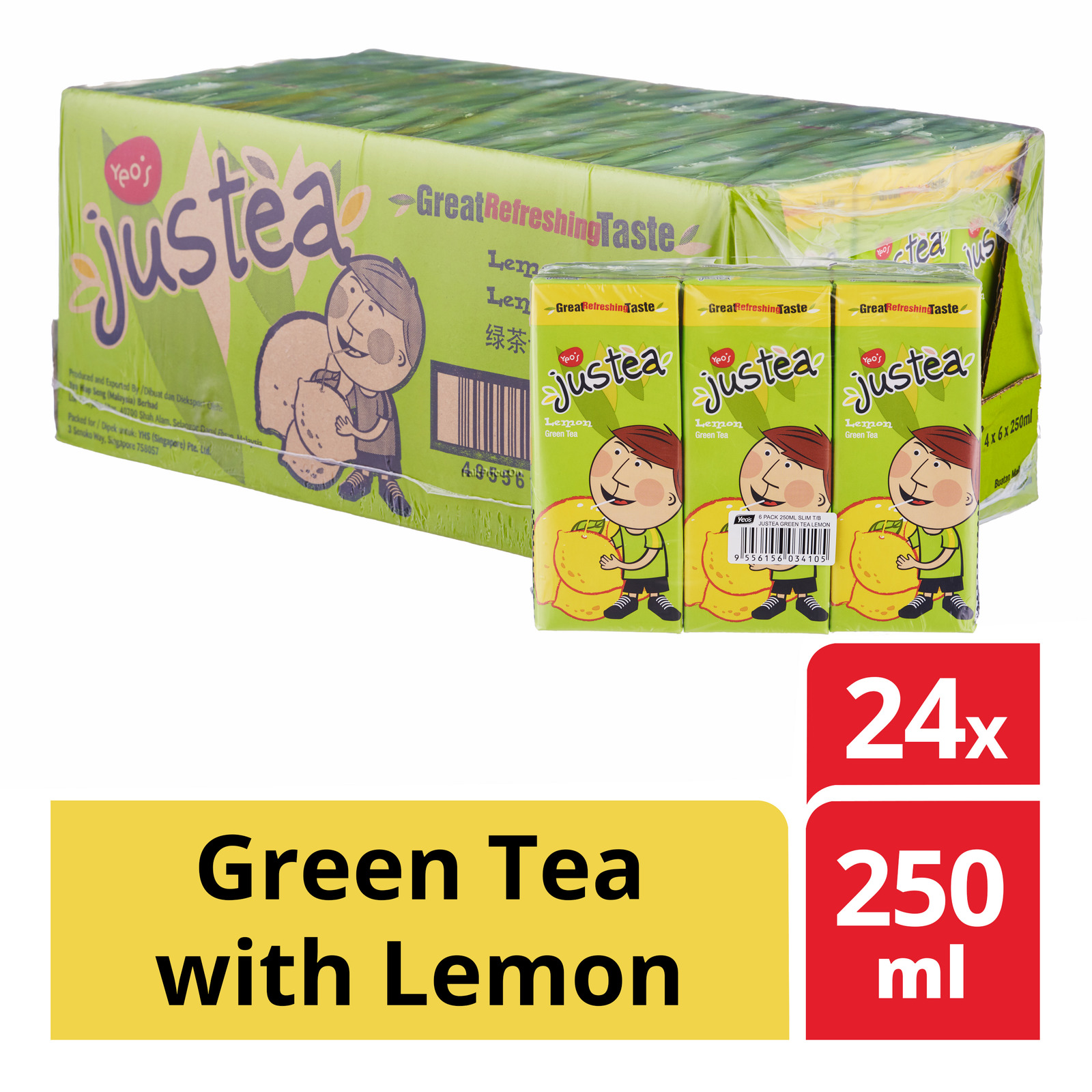 Yeo's Justea Packet Drink - Green Tea with Lemon