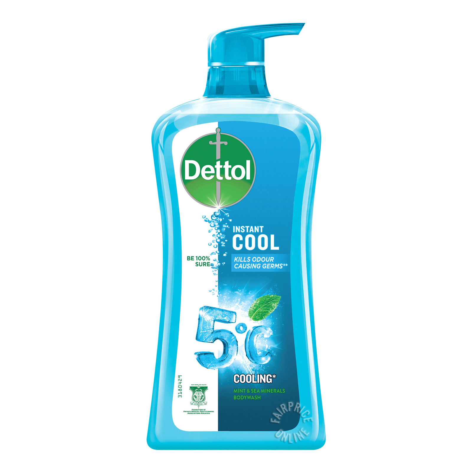 Dettol Anti-Bacterial pH-Balanced Body Wash - Cool