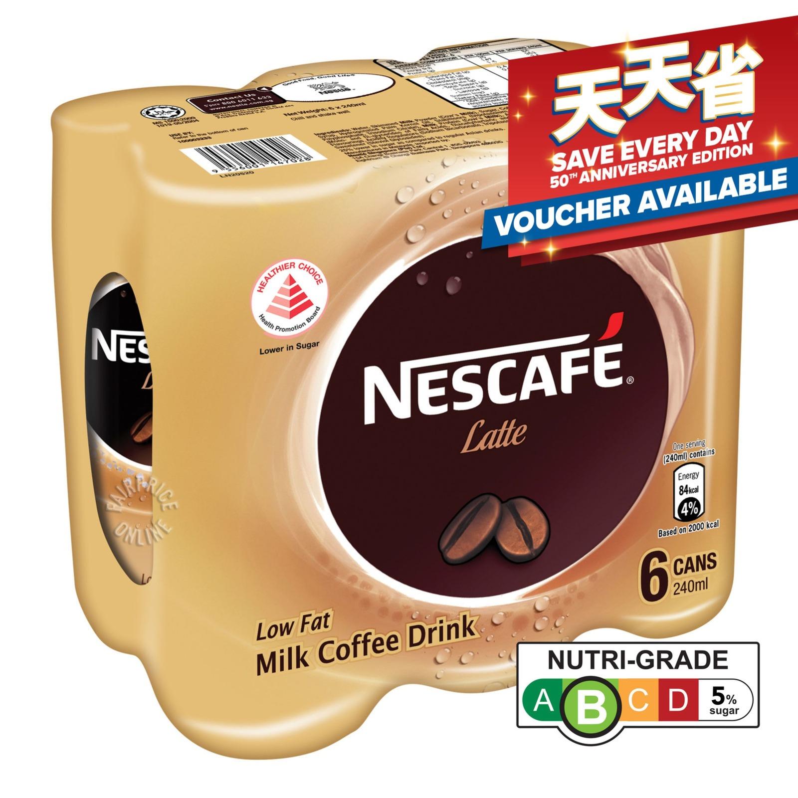 NESCAFE Milk Coffee Drink - Latte 6sX240ml