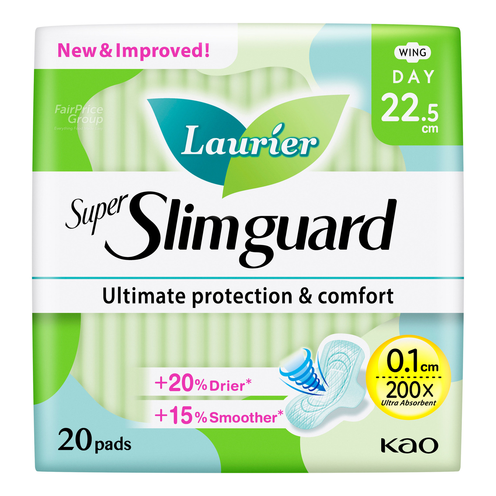 Laurier Super Slimguard Day Pads - Normal Heavy (22.5cm)