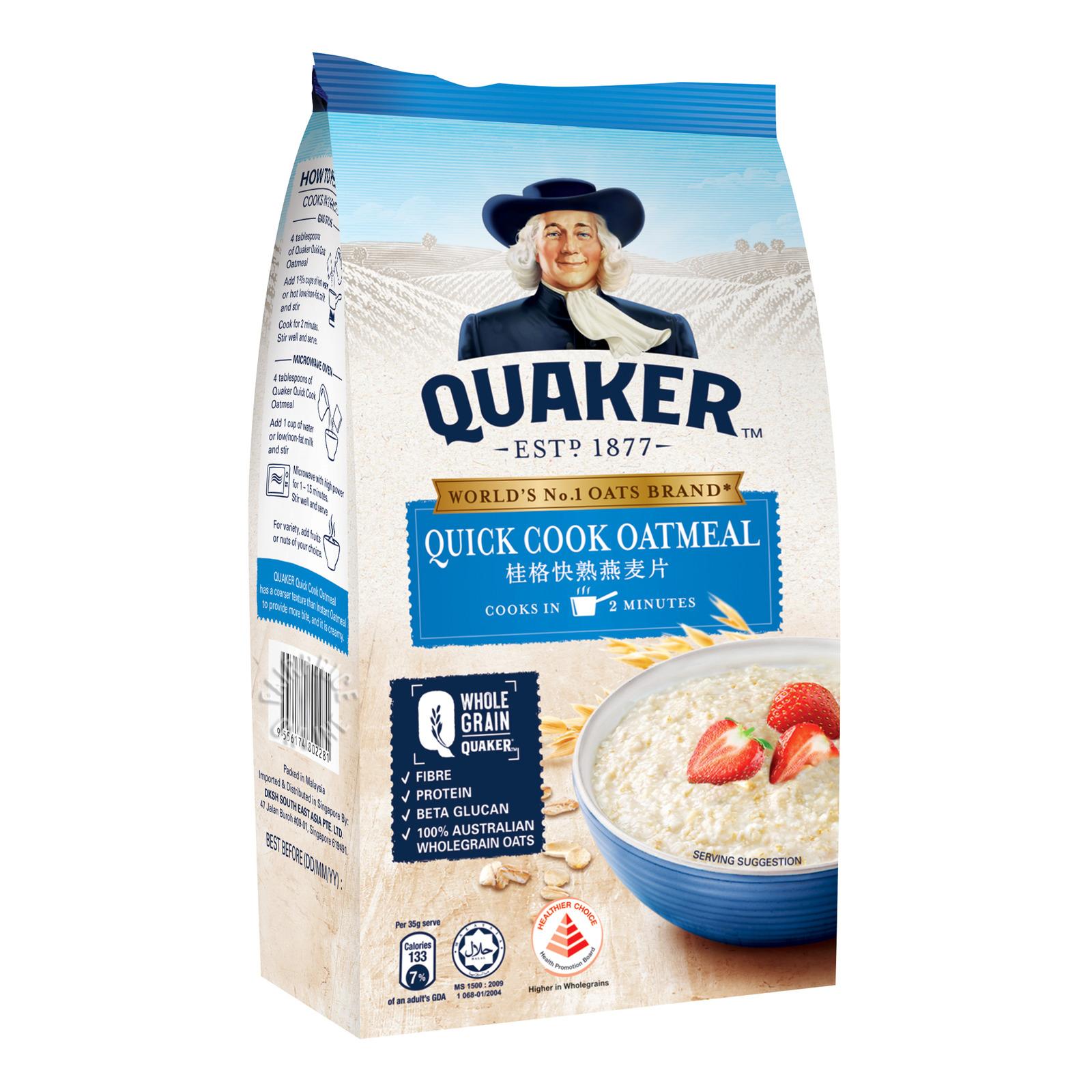 Quaker 100% Wholegrain Oatmeal Refill - Quick Cook
