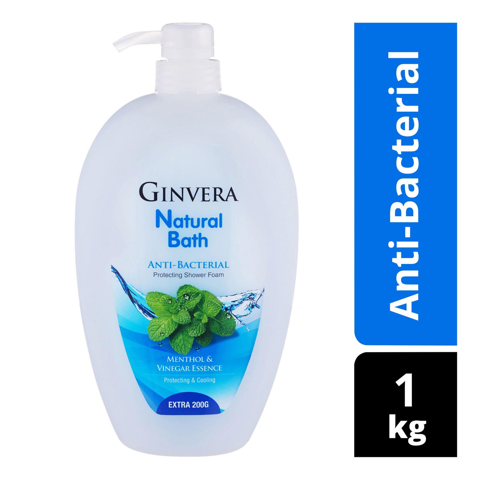 Ginvera Natural Bath Shower Foam - Anti-Bacterial