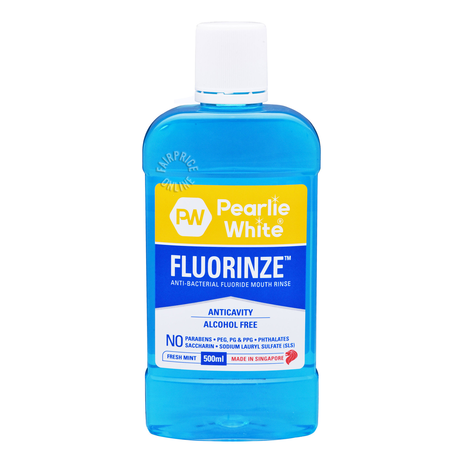 Pearlie White Fluoride Mouth Rinse - Mint