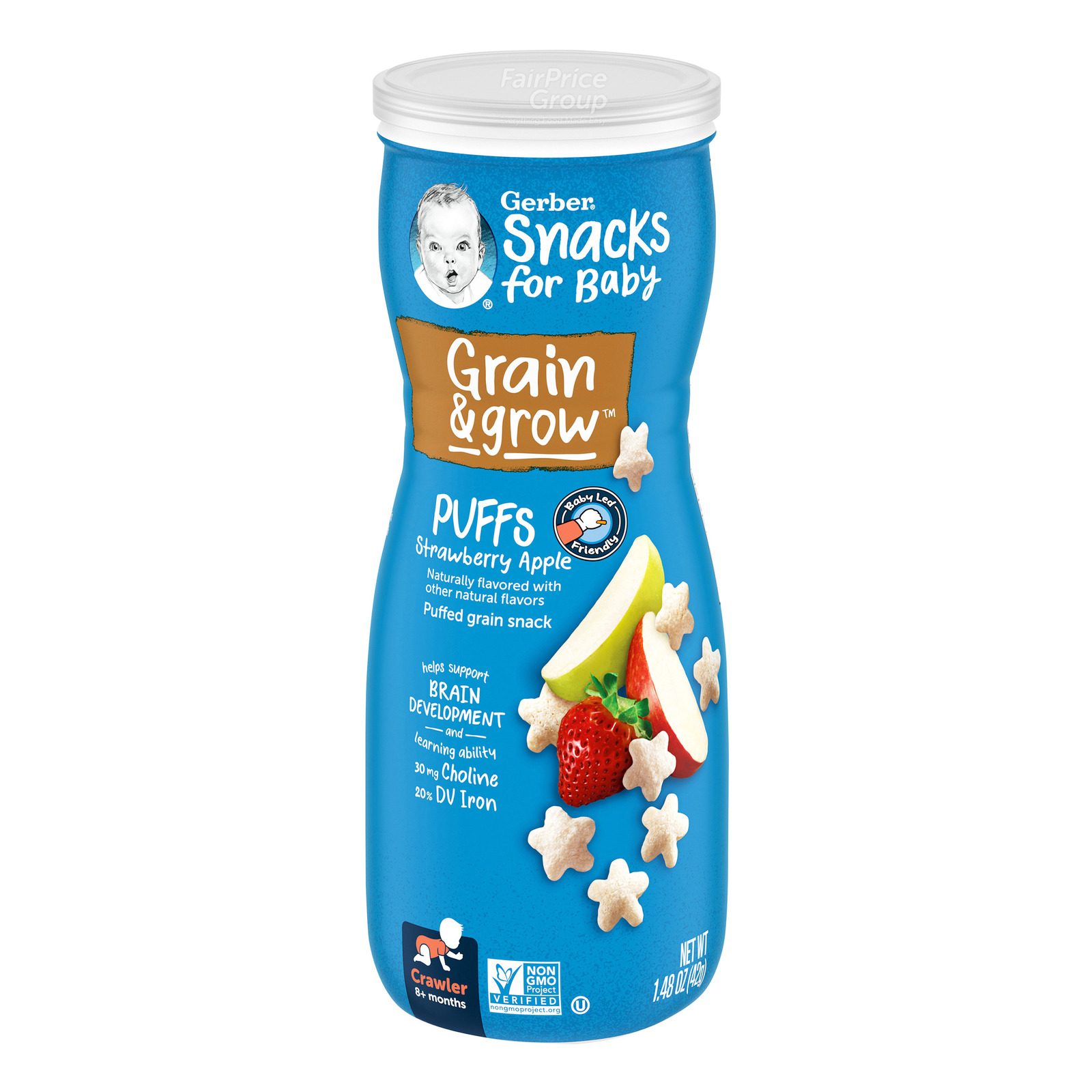 Gerber Graduates Baby Puffs - Strawberry Apple
