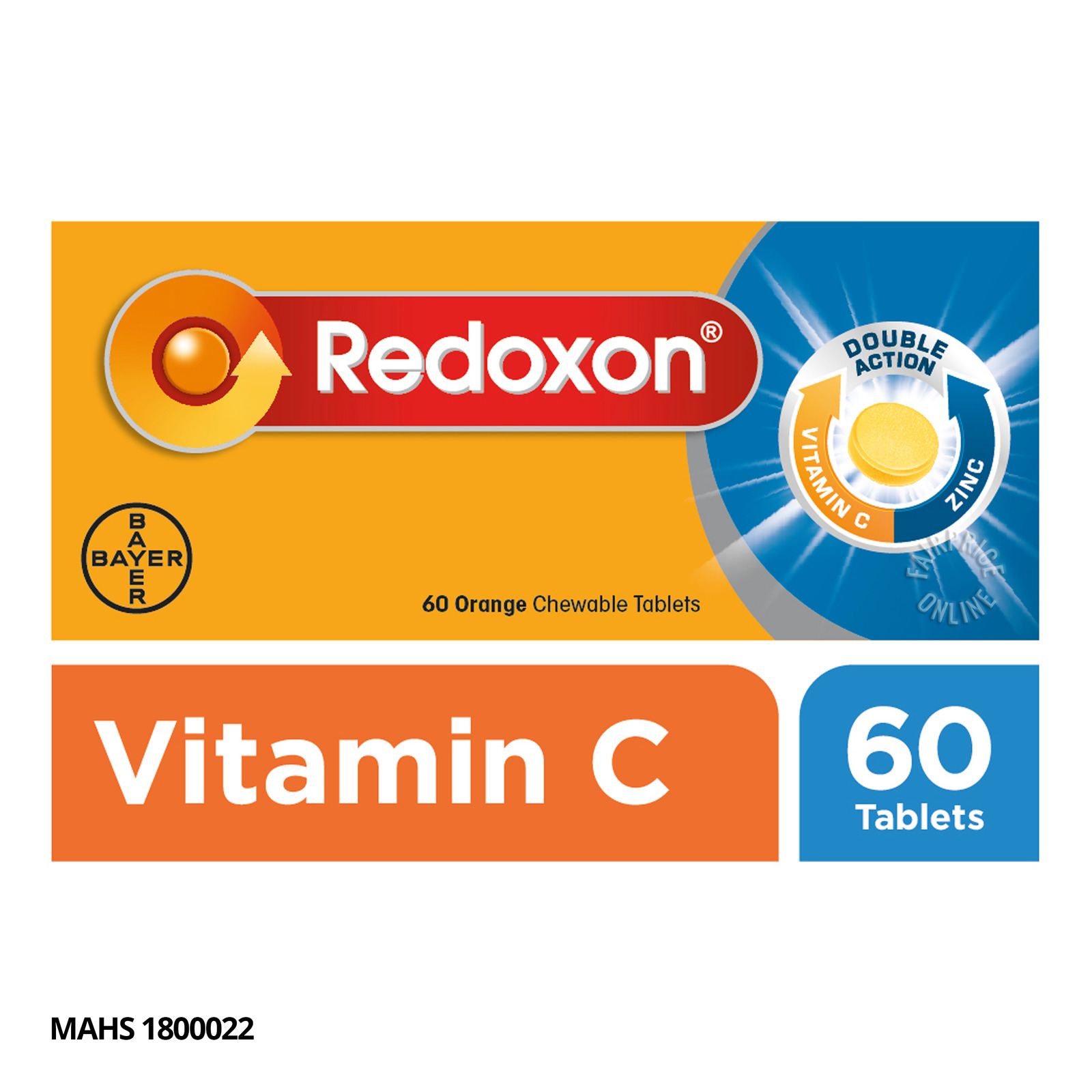 REDOXON double action 500mg 60 chewable tablets