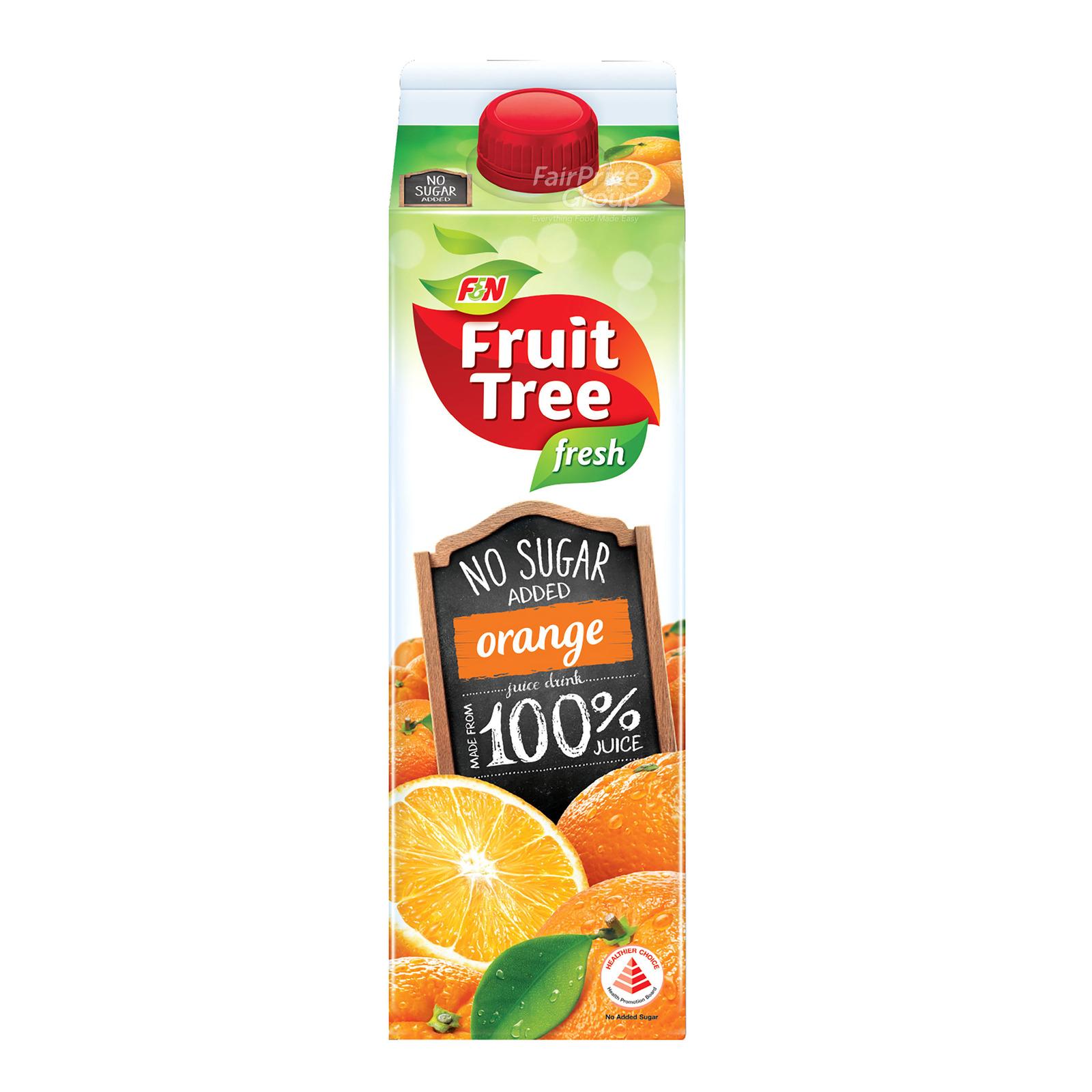 F&N Fruit Tree Fresh No Sugar Added Juice - Orange