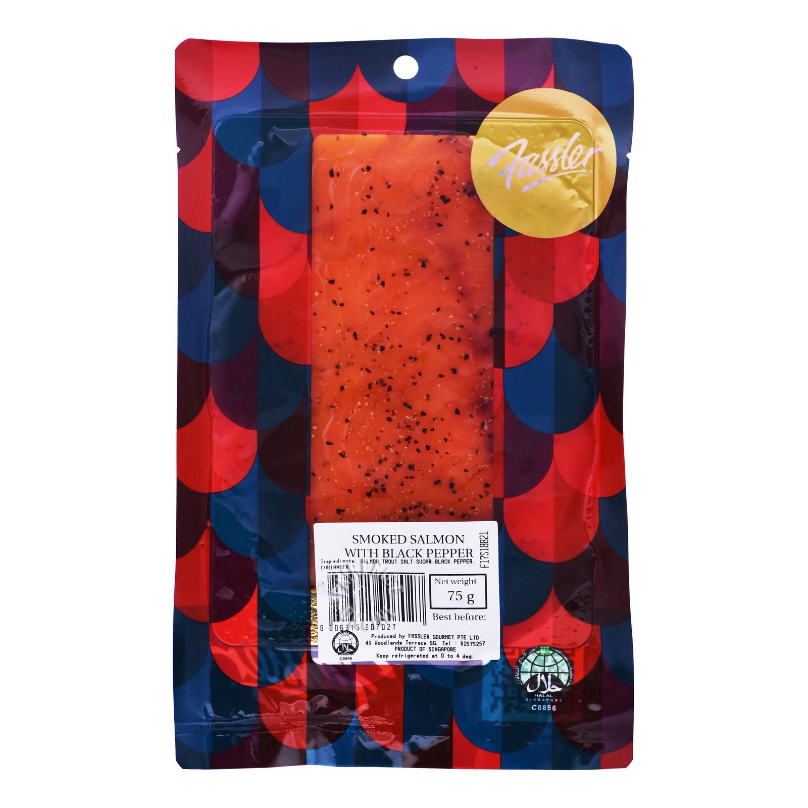 Fassler Smoked Salmon W Black Pepper - Frozen