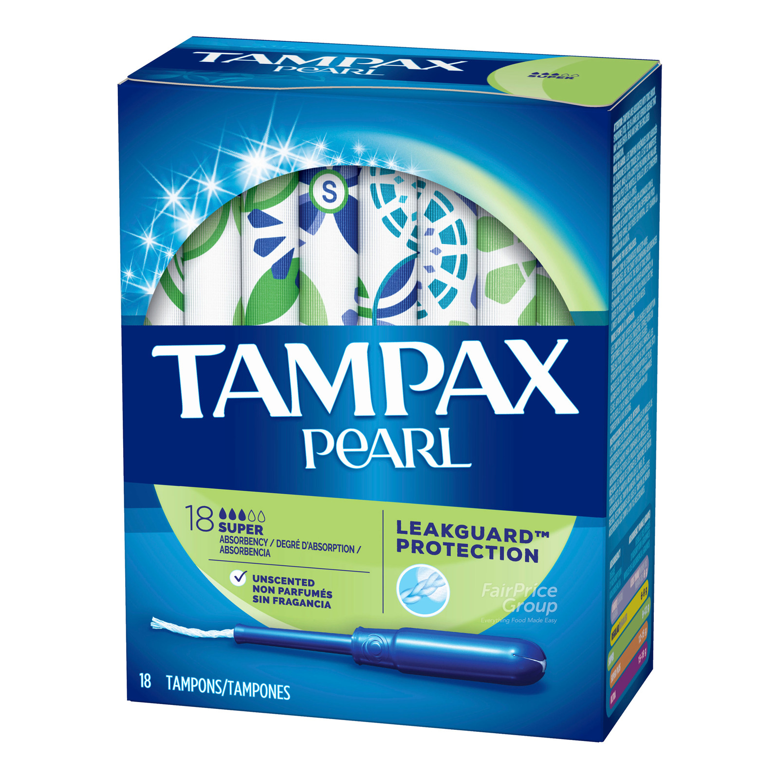 Tampax Pearl Plastic Tampons - Super Unscented