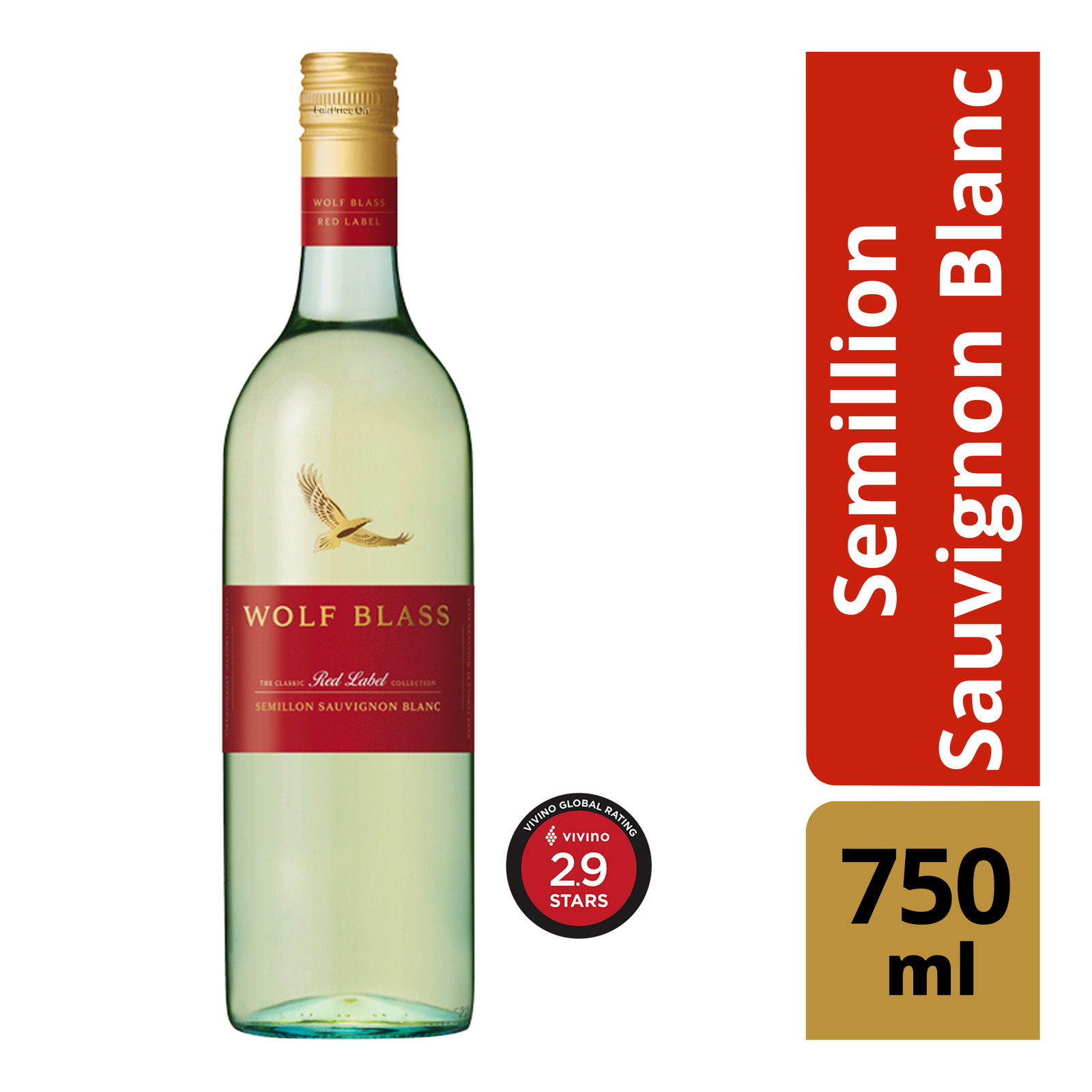 Wolf Blass Red Label White Wine - Semillion Sauvignon Blanc
